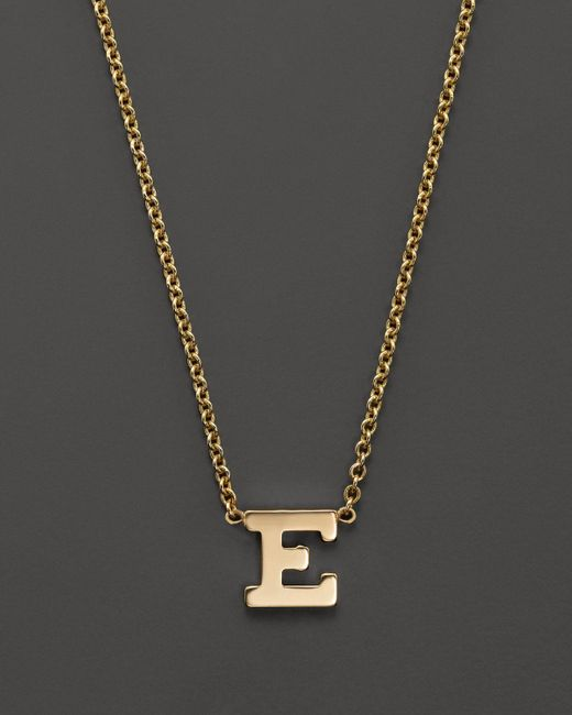 """Zoe Chicco   14k Yellow Gold Initial Necklace, 16""""   Lyst"""