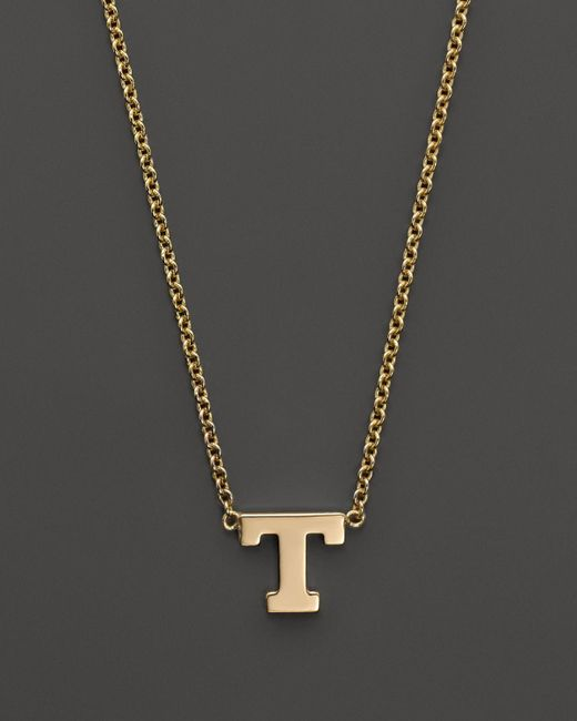Zoe Chicco | 14k Yellow Gold Initial Necklace, 16"