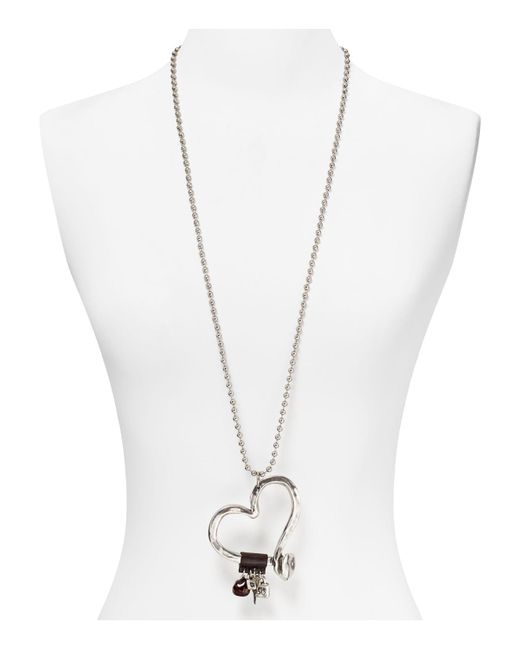 Uno De 50 | Metallic Love At First Sight Necklace, 34"