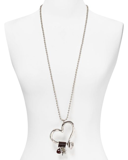 """Uno De 50   Metallic Love At First Sight Necklace, 34""""   Lyst"""