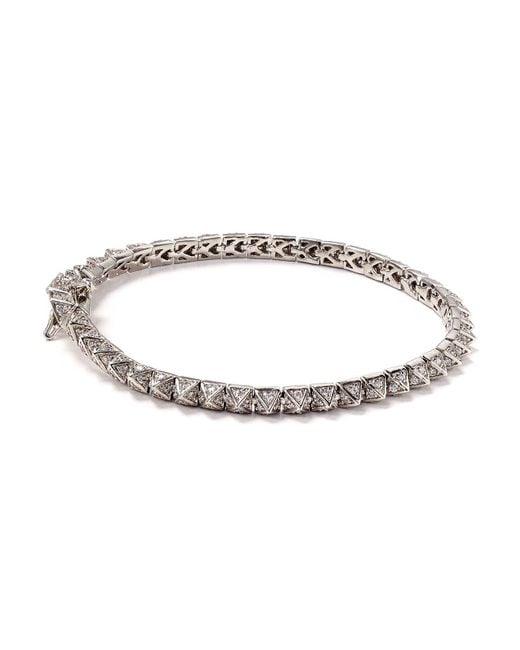 Eddie Borgo | Metallic Mini Pave Tennis Bracelet | Lyst