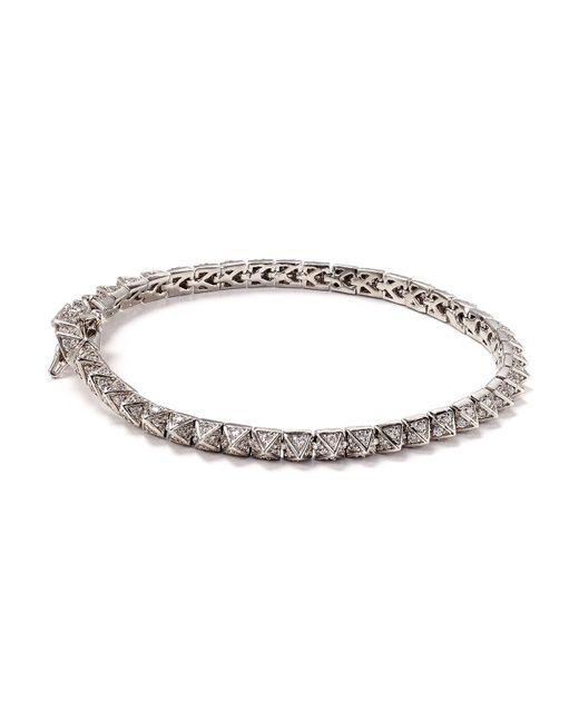 Eddie Borgo | Metallic Mini Pavé Tennis Bracelet | Lyst