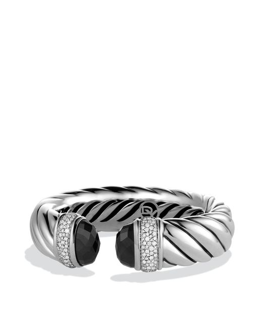 David Yurman   Metallic Waverly Bracelet With Black Onyx & Diamonds   Lyst