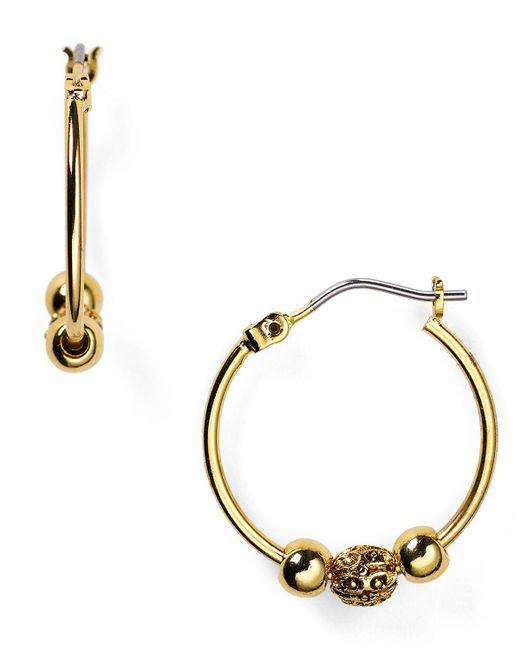 Pink Pony | Metallic Lauren Beaded Delight Small Hoop Earrings | Lyst