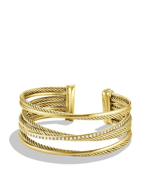 David Yurman | Metallic Cushion Link Bracelet With Blue Sapphires And 18k Gold | Lyst