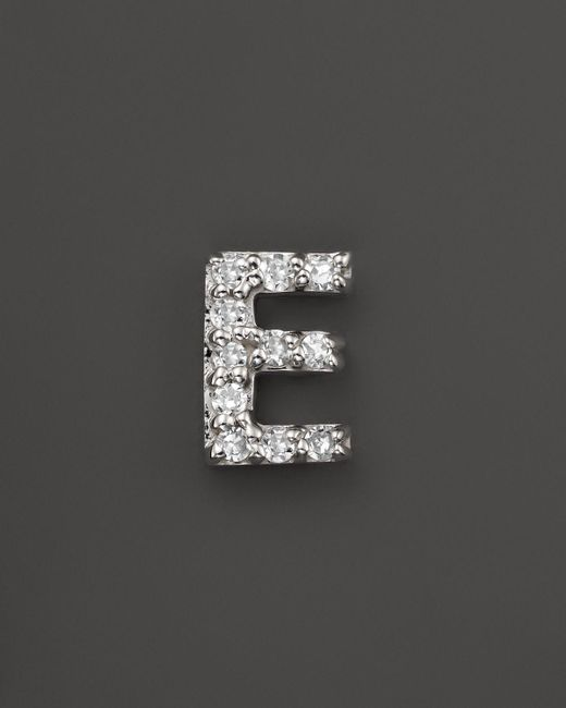 KC Designs | Diamond Initial Stud Earring In 14k White Gold - 100% Exclusive | Lyst