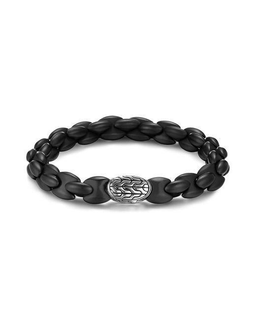 John Hardy | Men's Sterling Silver Classic Chain Bracelet With Black Agate for Men | Lyst