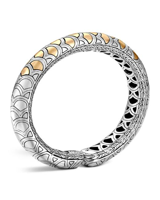 John Hardy   Metallic Sterling Silver And 18k Bonded Gold Naga Slim Flex Cuff   Lyst