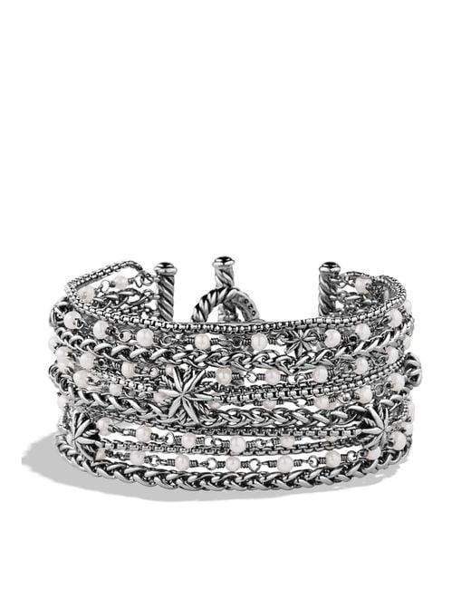 David Yurman | Metallic Starburst Chain Bracelet With Pearls | Lyst