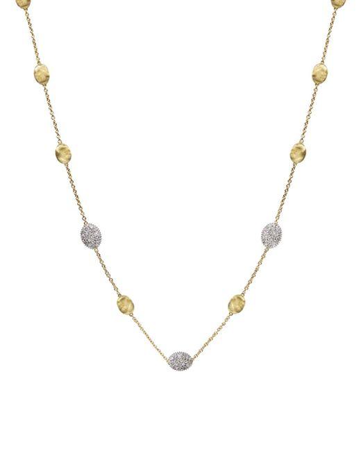 "Marco Bicego | Metallic Siviglia 18k Yellow Gold Necklace With Diamonds, 16.5"" | Lyst"