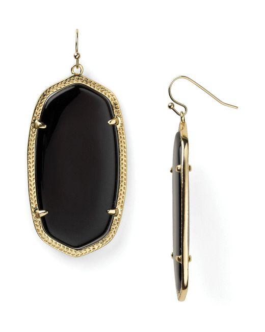 Kendra Scott | Black Danielle Earrings | Lyst