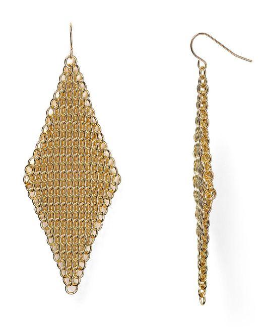 ABS By Allen Schwartz   Metallic Call Of The Wild Mesh Earrings   Lyst