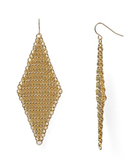 ABS By Allen Schwartz | Metallic Call Of The Wild Mesh Earrings | Lyst