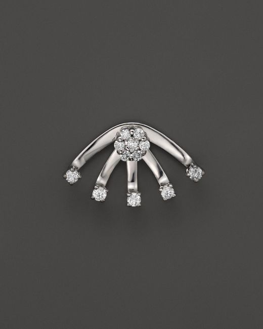 KC Designs | Diamond Stud Earring With Jacket In 14k White Gold | Lyst