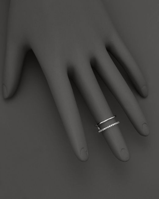 KC Designs | Double Row Midi Ring In 14k White Gold - 100% Exclusive | Lyst