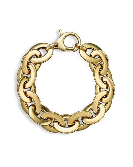 Roberto Coin | Metallic 18k Yellow Gold Flat Oval Link Bracelet | Lyst