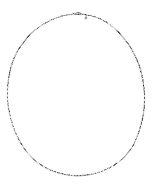 "John Hardy | Metallic Naga Sterling Silver Box Chain Necklace With Naga Dragon Clasp, 72"" | Lyst"