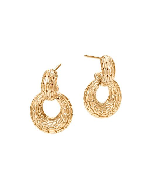John Hardy   Metallic 18k Yellow Gold Classic Chain Drop Earrings   Lyst