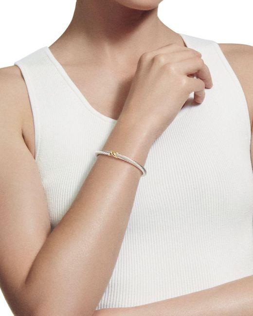 David Yurman Metallic Renaissance Bracelet With Chrome Diopside, Hampton Blue Topaz And 14k Gold, 5mm