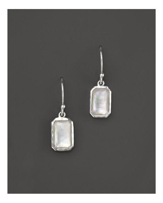 Ippolita   Metallic Sterling Silver Wonderland Rectangular Drop Earrings In Mother-of-pearl   Lyst