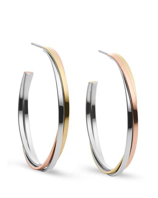 Michael Kors | Metallic Tri-tone Whisper Hoop Earrings | Lyst