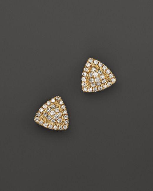 Dana Rebecca | Metallic 14k Yellow Gold Emily Sarah Triangle Stud Earrings | Lyst