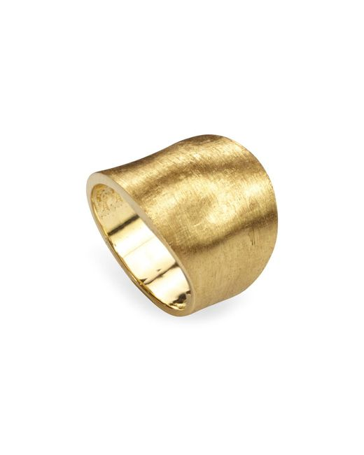 Marco Bicego | Metallic 18k Yellow Gold Engraved Lunaria Ring | Lyst