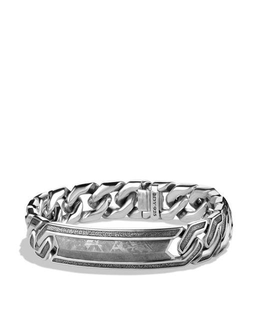 David Yurman   Metallic Meteorite Curb Chain Id Bracelet for Men   Lyst