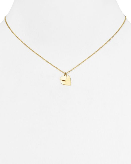 Jennifer Zeuner | Metallic Mattea Mini Double Heart Necklace, 16"