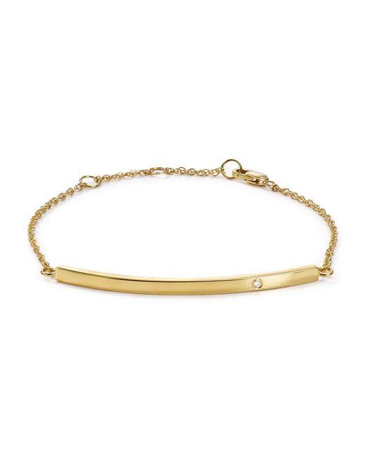Jennifer Zeuner | Metallic Chelsea Horizontal Bar Bracelet | Lyst