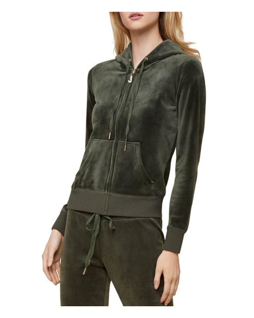 Juicy Couture - Green Robertson Luxe Velour Hoodie - Lyst