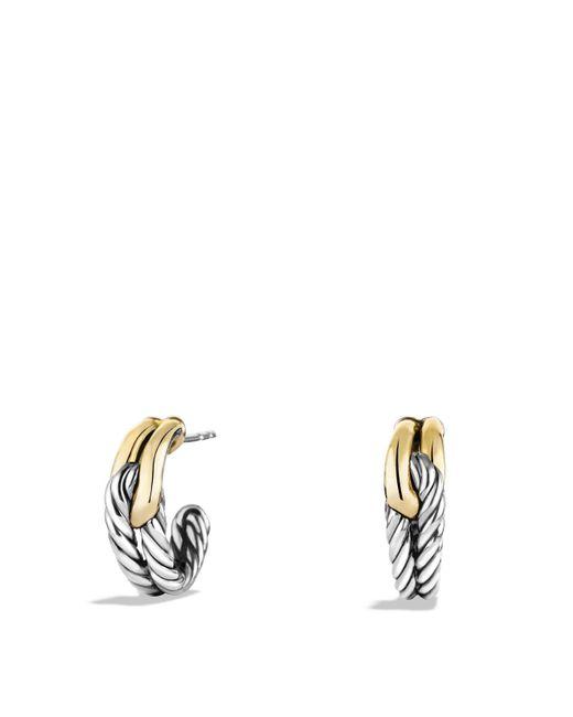 David Yurman | Metallic Labyrinth Single-loop Earrings With Gold | Lyst