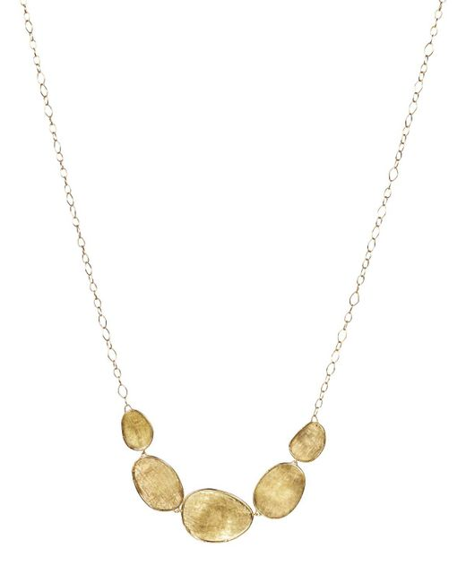 Marco Bicego | Metallic 18k Yellow Gold Lunaria Half Collar Necklace, 16.5"