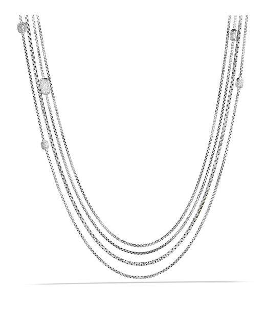 David Yurman   Metallic Confetti Station Necklace With Diamonds   Lyst