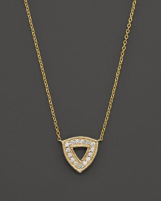 "Dana Rebecca | Metallic 14k Yellow Gold Emily Sarah Necklace With Diamonds, 16"" | Lyst"