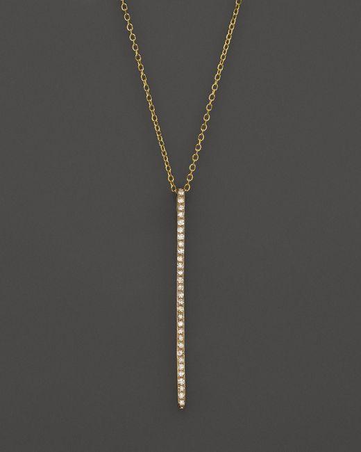 KC Designs | Metallic Diamond Stick Pendant Necklace In 14k Yellow Gold, .10 Ct. T.w. | Lyst