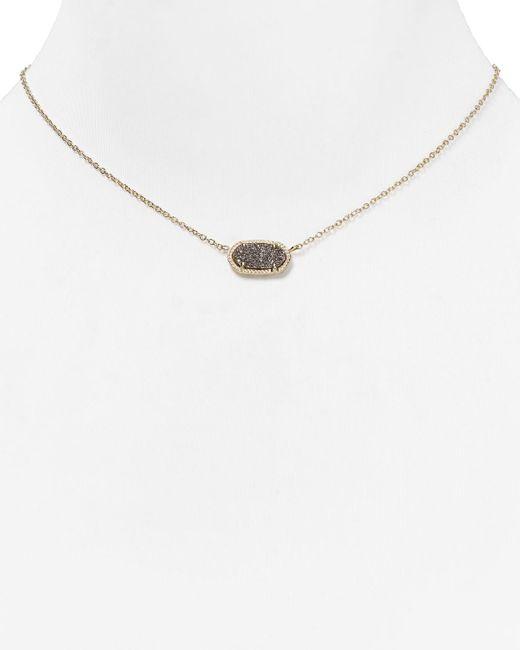 "Kendra Scott   Metallic Elisa Drusy Necklace, 15""   Lyst"