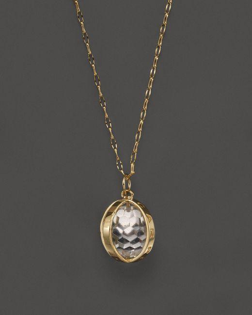 "Monica Rich Kosann | Metallic 18k Yellow Gold Carpe Diem Necklace With Crystal, 30"" | Lyst"
