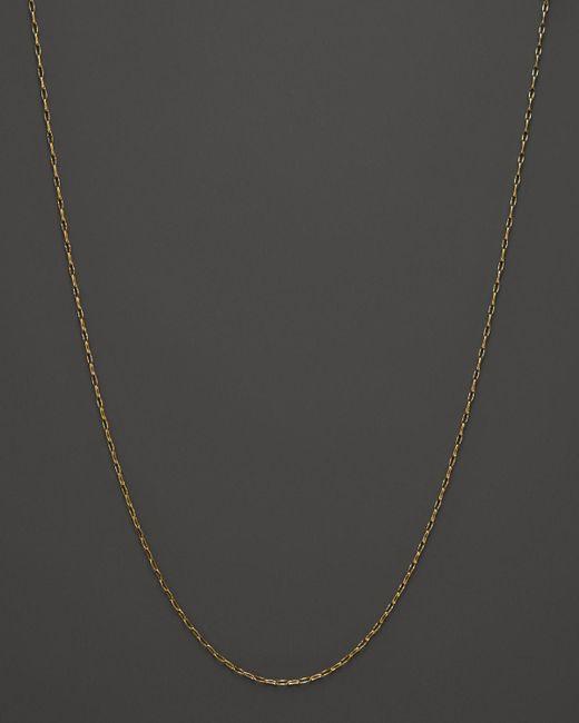 "Monica Rich Kosann   Metallic 18k Yellow Gold Delicate Belcher Necklace Chain, 17""   Lyst"