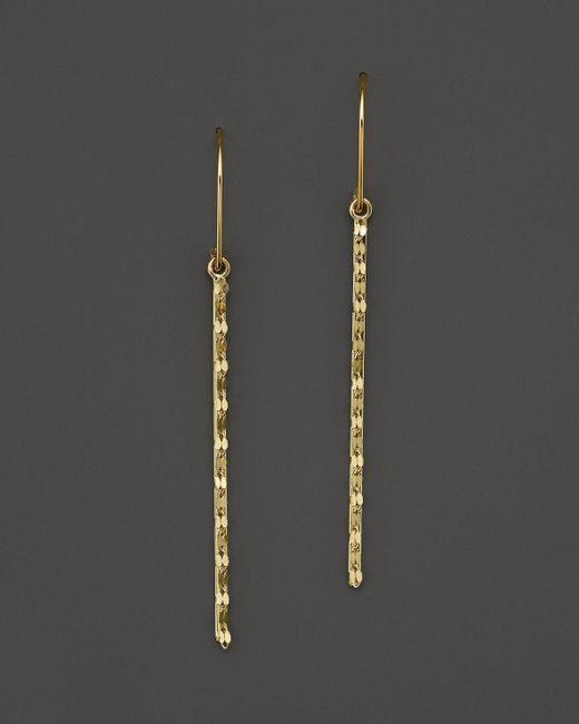 Lana Jewelry | Metallic 14k Yellow Gold Small Glam Bar Earrings | Lyst