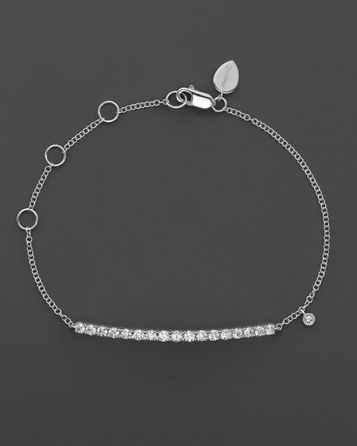 Meira T | 14k White Gold Diamond Large Bar Bracelet | Lyst