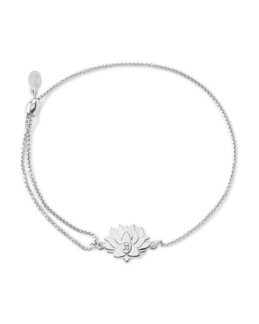 ALEX AND ANI   Metallic Precious Metals Symbolic Lotus Peace Petals Pull Chain Bracelet   Lyst