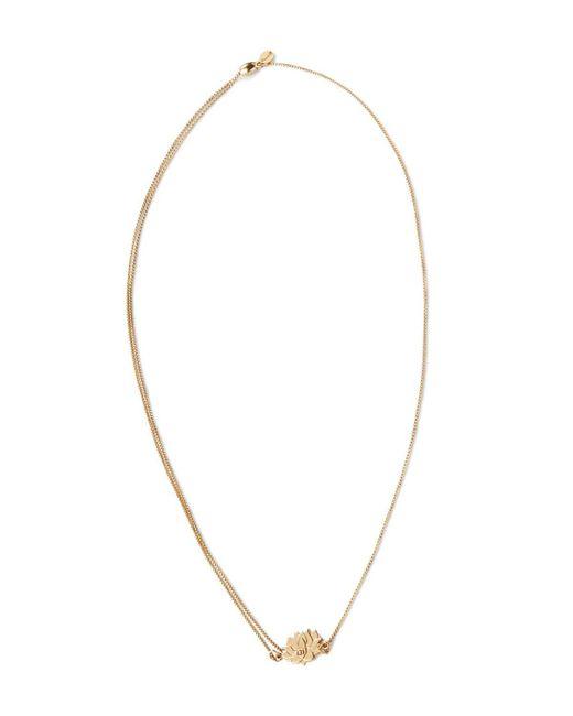 "ALEX AND ANI | Metallic Precious Metals Symbolic Lotus Peace Petals Pull Chain Necklace, 10-24"" | Lyst"