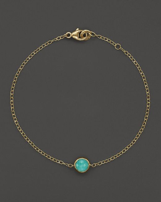 Ippolita   Metallic 18k Gold Mini-lollipop Bracelet In Turquoise   Lyst