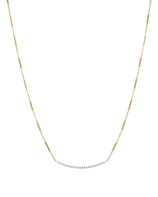 Marco Bicego | Metallic 18k Yellow Gold Goa Necklace With Diamonds, 16"