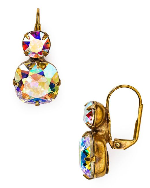 Sorrelli | Multicolor Crystal Drop Earrings | Lyst
