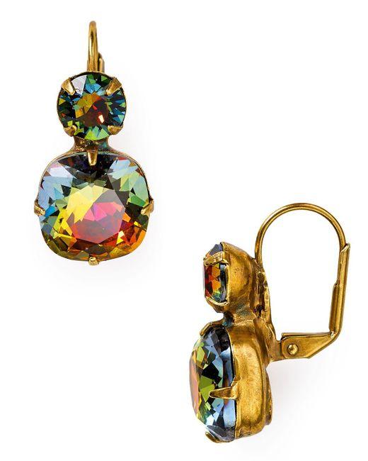 Sorrelli | Multicolor Crystal Drop Earrings | Lyst