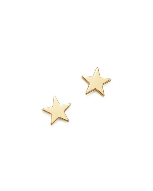 Zoe Chicco - Metallic 14k Yellow Gold Itty Bitty Star Earrings - Lyst