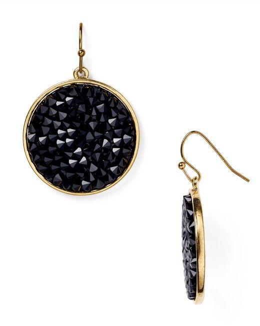 ABS By Allen Schwartz   Metallic Bead Set Drop Earrings   Lyst