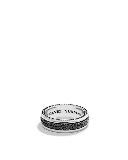 David Yurman   Metallic Streamline Two-row Band Ring With Black Diamonds for Men   Lyst
